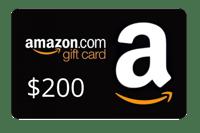 Amazon giftcard $200